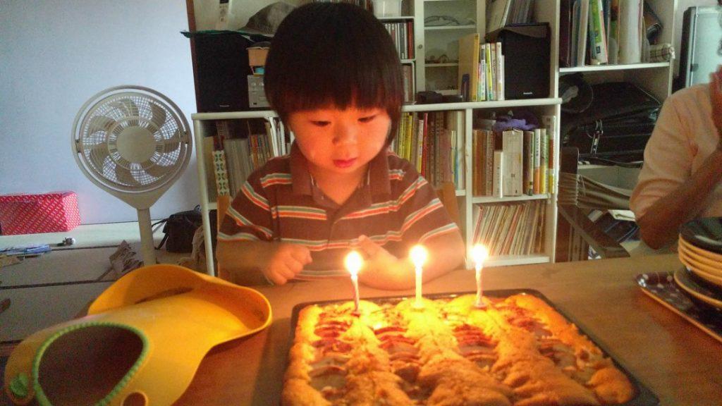 次男、3歳になりました